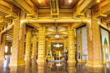 Thai Style Art Decorative Ceiling At Chaimongkol Pagoda
