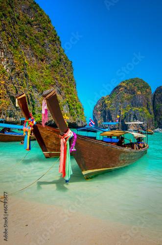 Fotomural Boats of Phi-Phi Island