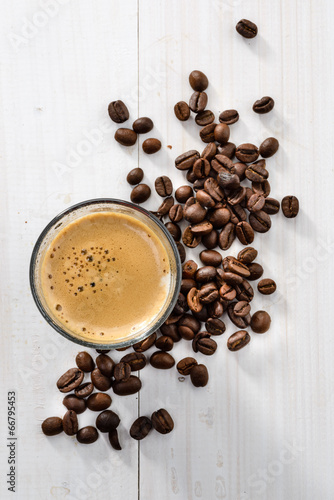Keuken foto achterwand Koffiebonen Caffè freddo