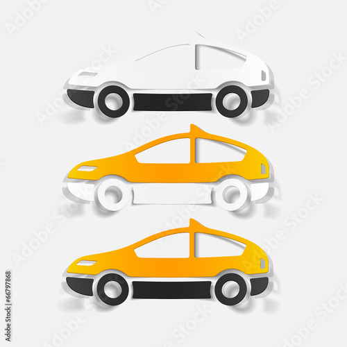 realistic design element: taxi Fototapete