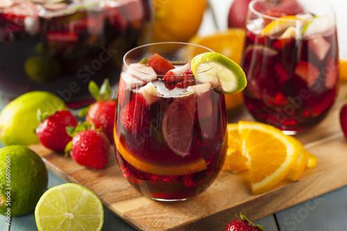 Fotografie, Obraz Homemade Delicious Red Sangria