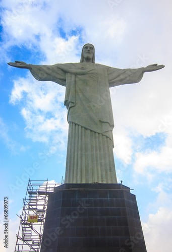 Christ the Redeemer in Rio de Janeiro. Poster