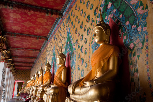 Depth view of Serene Buddha statue