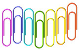 Colored paperclips wave - 66815625