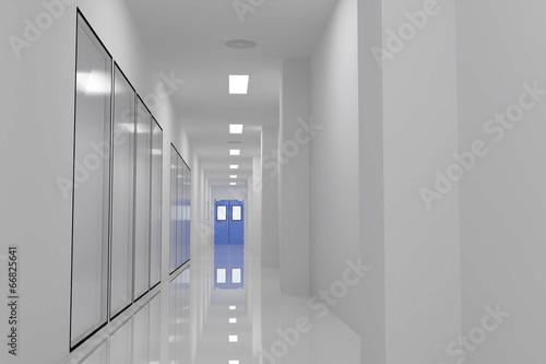 Staande foto Industrial geb. Corridors For Clean room pharmaceutical plant