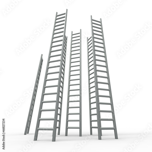 Foto op Plexiglas Trappen Ladder Ladders Indicates Vision Raise And Growing