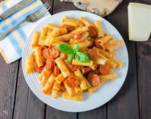 Pasta With Chorizo Sausage