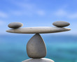 Spa Stones Indicates Healthy Equality And Calmness