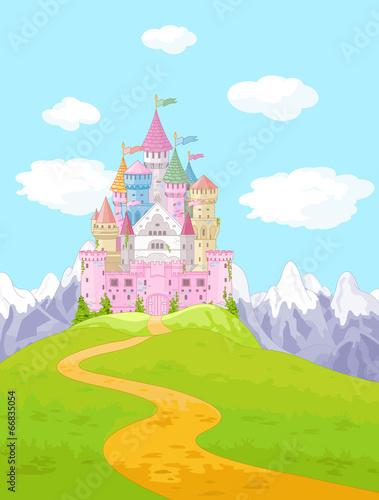 Fairy Tale Castle Landscape Poster