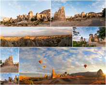 Collage View Of Cappadocia