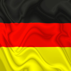 Germany waving silk Flag