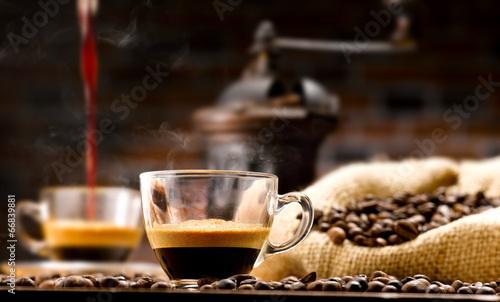 Plakat parzenie kawy
