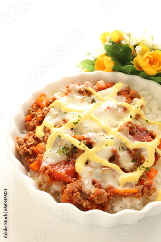 Fotografie, Tablou Italiand food, Doria with cheese and mayonnaise on top