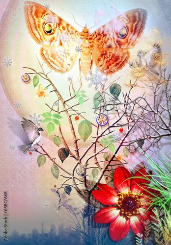 wrozkowe-drzewo-i-motyl