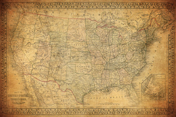 Vintage map of United State...