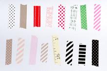 Washi Tape, Masking Tape Pieces Isolated.