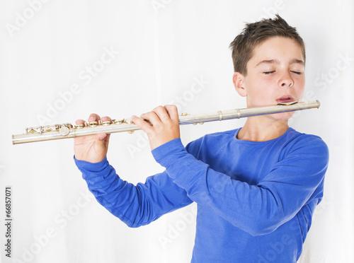 Fotografia, Obraz boy with flute