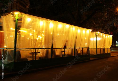 Photo  Night cafe in walking street