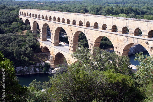 Spoed Foto op Canvas Artistiek mon. Pont du Gard