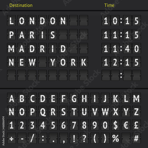 Analog airport scoreboard Poster