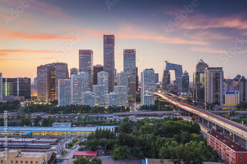 Photo sur Aluminium Pekin Beijing, China Financial District