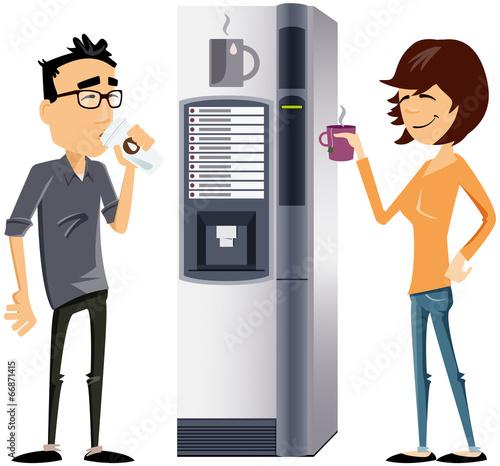 perso tertiaire moderne à la machine à café #66871415
