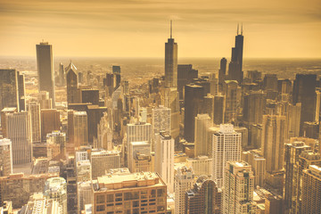 fototapeta Chicago Skyline Aerial View