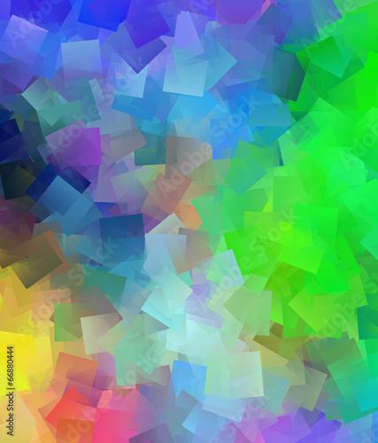 Beautiful abstract cubist colourful background Canvas Print