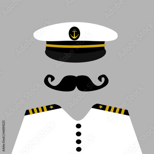 Fotografía  sailor captain wearing uniform