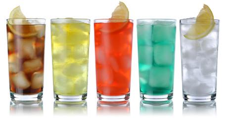 Fototapeta samoprzylepna Getränke mit Cola und Limonade