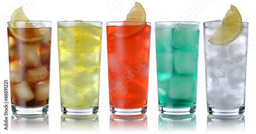 Getränke mit Cola und Limonade