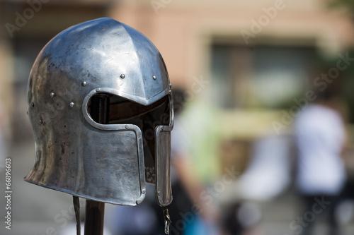 Photo  Ancient medieval armor
