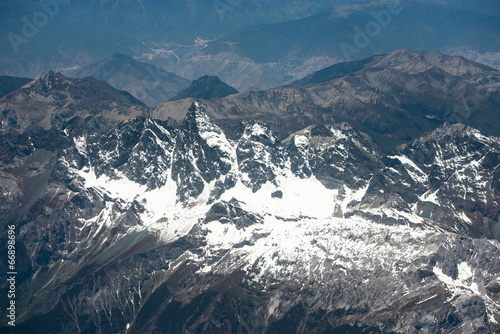 Fotografia  Spectacular mountain scenery on the Mount Everest Base Camp