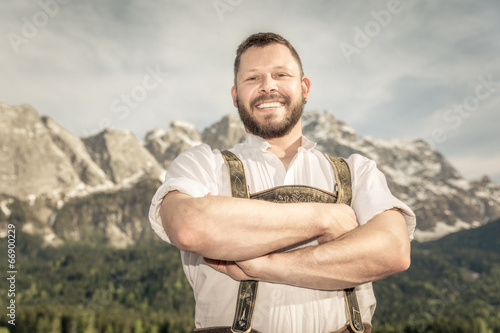 Canvas Print Bavarian tradition