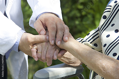 Fotografija Symbol of cup port and comfort image of Compassionate hands