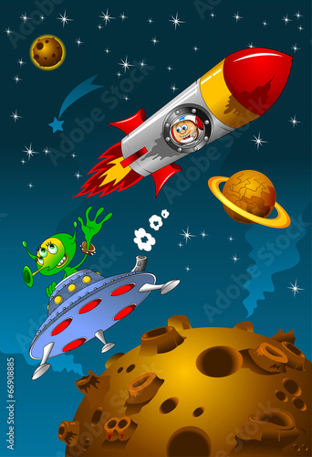 Foto op Canvas Kosmos meeting space