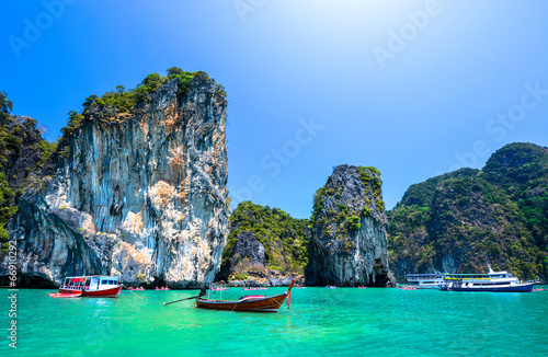 beautiful ocean landscape in Thailand Wallpaper Mural