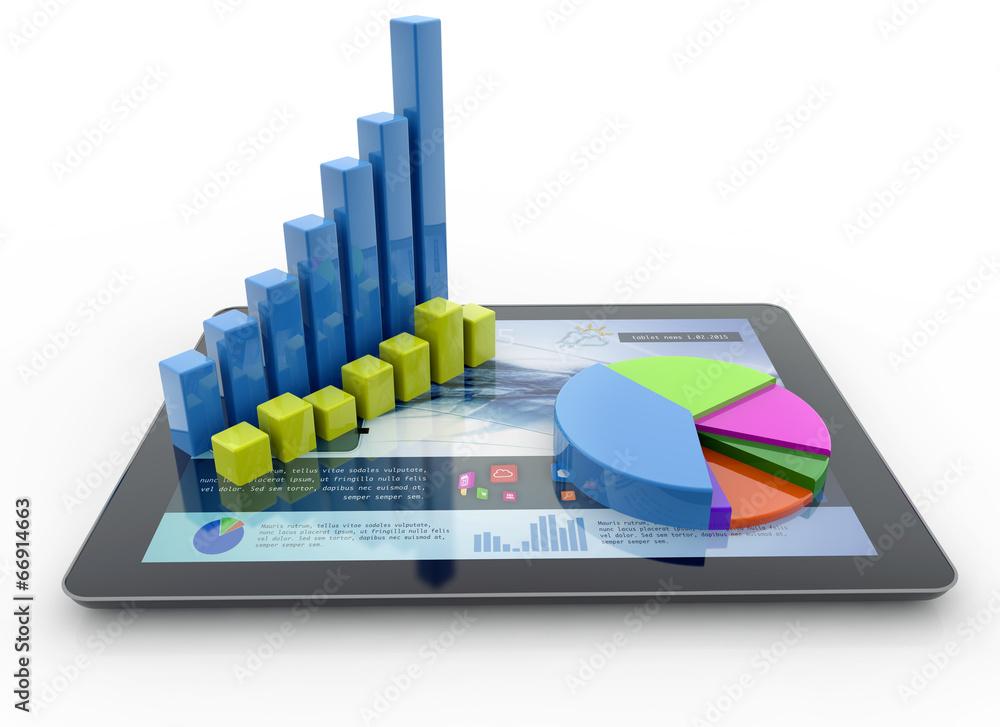 Fototapeta financial analysis