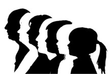 Vector Silhouettes Family.