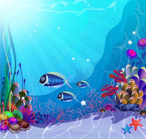 Recess Fitting Submarine Underwater Life
