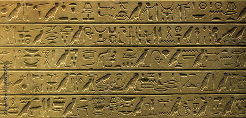 Foto op Canvas Egypte Egyptian hieroglyphics