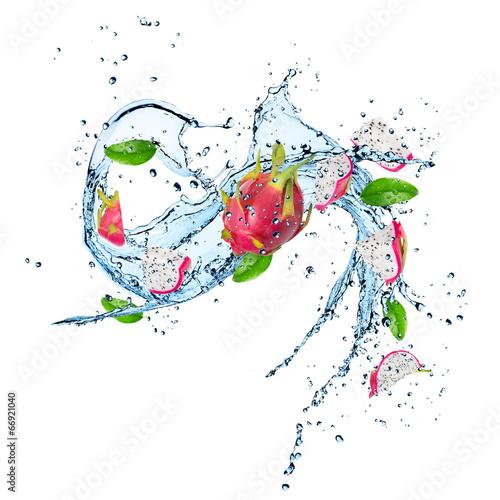 Keuken foto achterwand Opspattend water Fresh Fruit with water splash