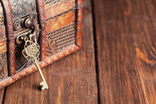 Vintage Key And Old Treasure C...