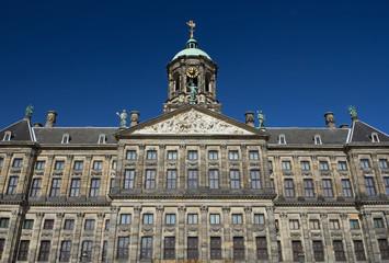 Fototapeta na wymiar Royal Palace at the Dam Square, Amsterdam.