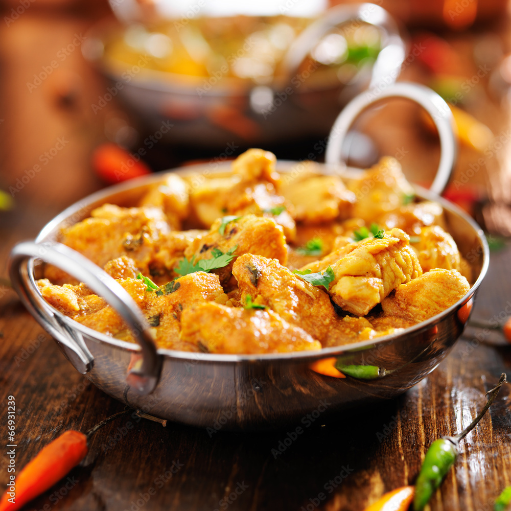 Fototapety, obrazy: indian chicken curry in balti dish