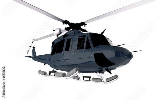 Poster Helicopter Dark Blue Chopper Isolated
