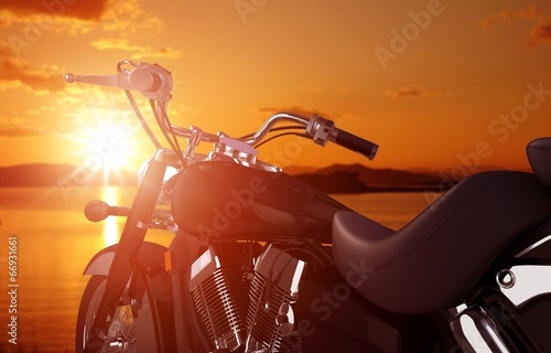 Motorcycle Traveling Concept Wallpaper Mural