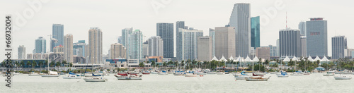Panoramic view of downtown Miami