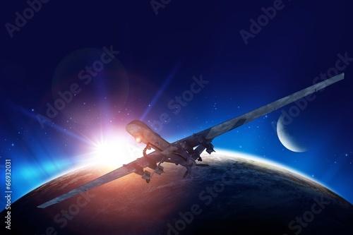 Fotografie, Obraz  Dron Mission Illustration