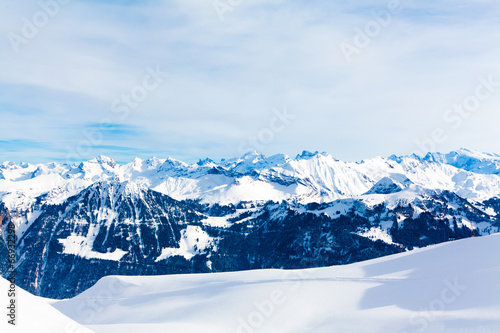 Fototapety, obrazy: Winter landscape. winter mountains landscape. Beautiful winter